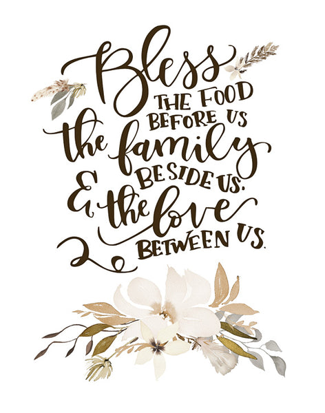 Bless The Food Before Us Lettered Print Daffodil Creek