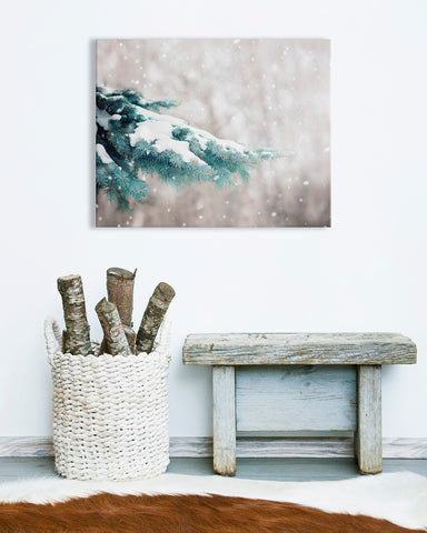 Blue Spruce - Log Cabin Wall Art
