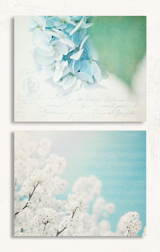 Blue Nursery Set of Two Prints