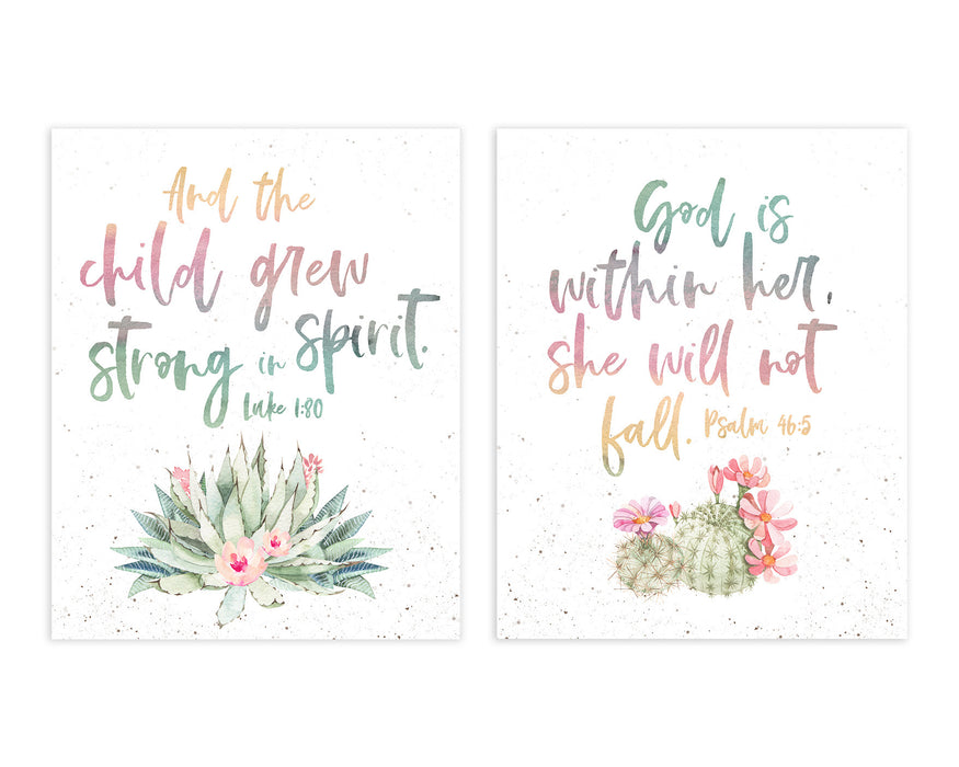 Girls Tribal Nursery Set of Two Prints