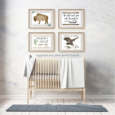 Set of Four Tribal Nursery Prints for Boys