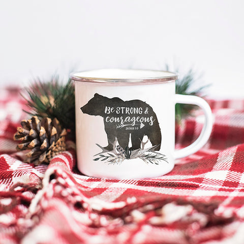 Kids Camp Mug - Rustic Camp Fire Mug with Bear for Boys