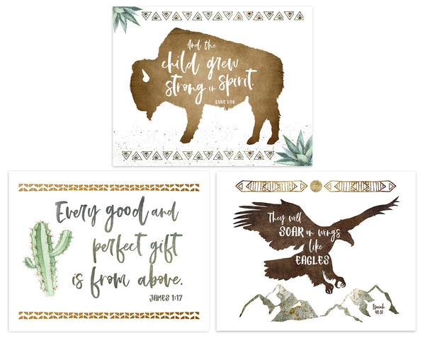 Set of Three Boho Nursery Prints