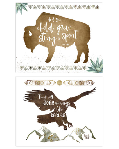 Set of Two Modern Boys Nursery Prints