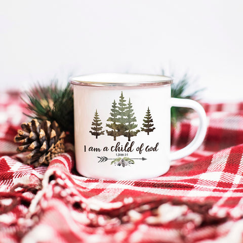 Rustic Camp Fire Mug for Boys - Forest Design