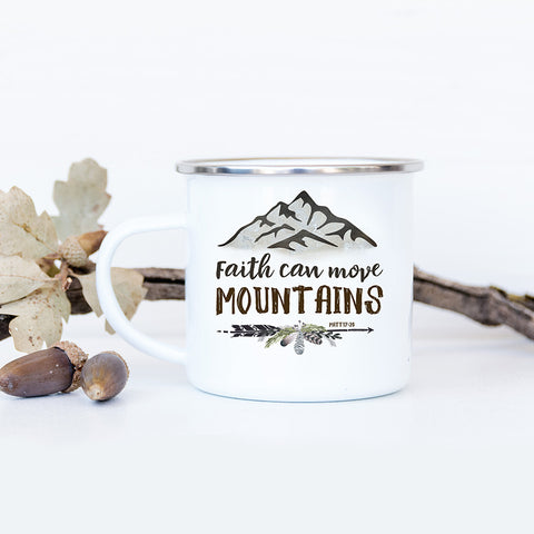 Boys Camp Fire Mug - Rustic Camp Mug with Mountains