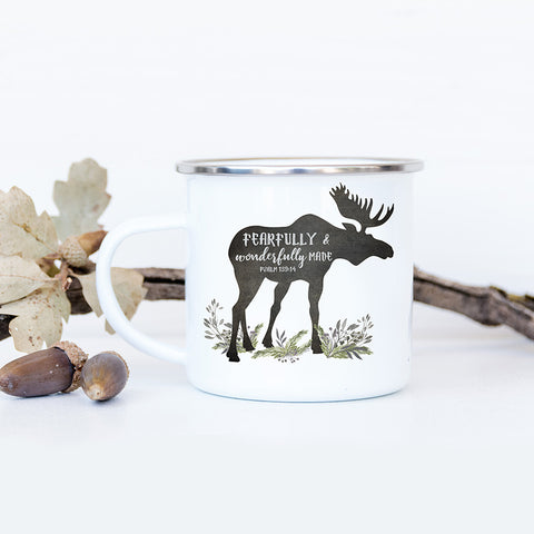 Rustic Camp Mug with Moose for Little Boys