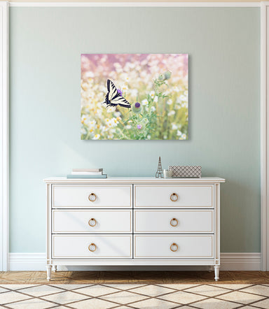 Butterfly Kisses - Butterfly Photo for your Floral Nursery