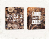 Cabin Quote Print Set of Two