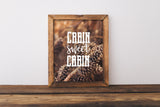 Cabin Sweet Cabin - Mountain Wall Art Quote
