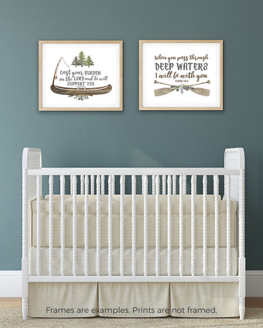 Set of Two Camping Nursery Prints for Boys