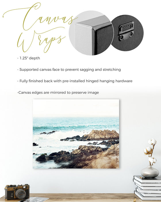 Foggy Beach Print Set of Two