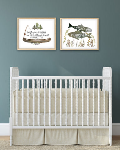 Fishing Nursery Prints for Boys - Set of Two