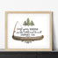 Camping Canoe Nursery Print for Boys