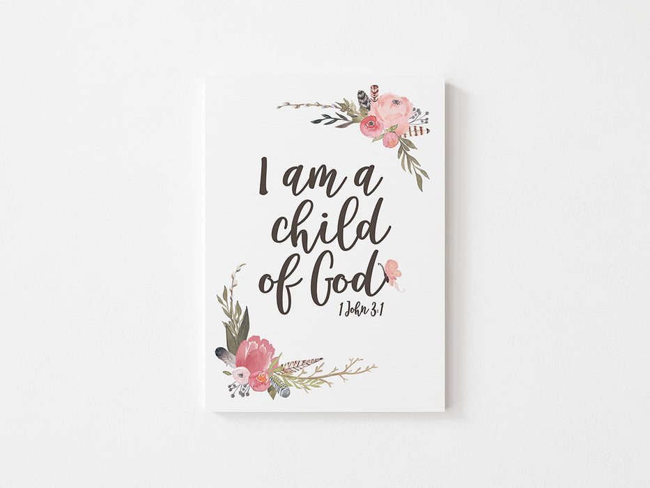 I am a Child of God (Girl's) - Canvas Wrap