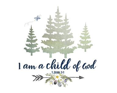 Child of God - Girls Alpine Woodland Nursery Wall Art