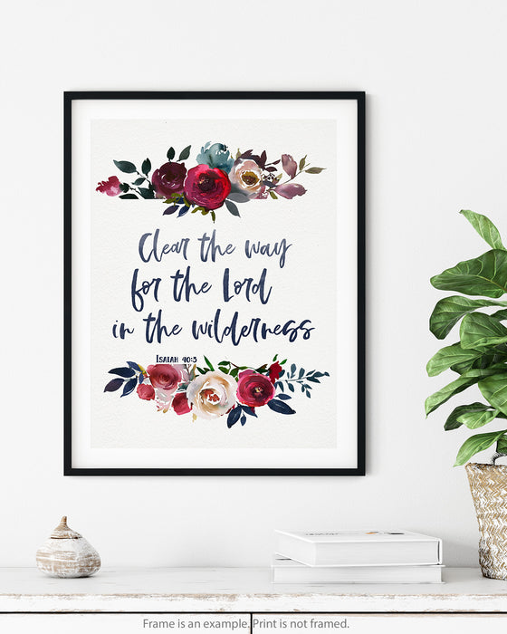 Clear the Way for the Lord - Bible Verse Print for Moms