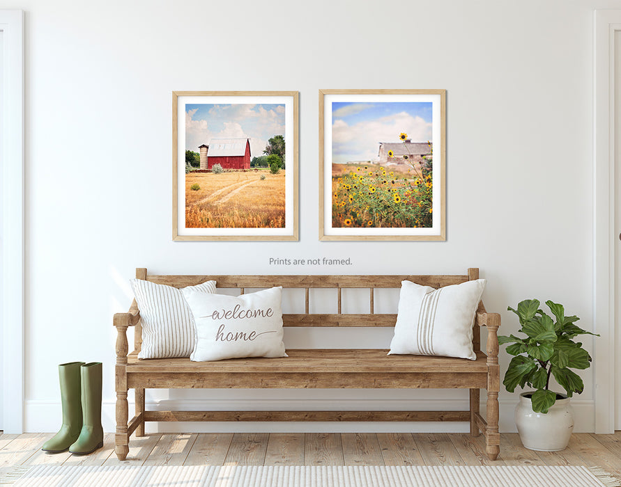 Coming Home Set of Two Vertical Barn Prints