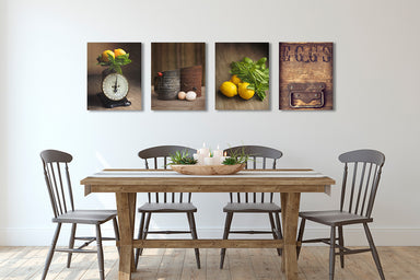 Brown and Yellow Wall Art Set of Four