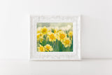 Daffodil Hill - Yellow Wall Art