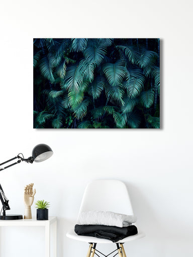 Deep Tropics - Modern Tropical Wall Art with Palm Branches