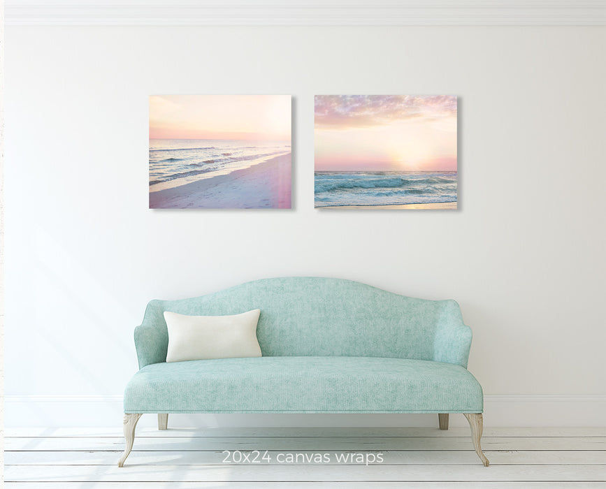 Dreamy Pink Beach Set of Two