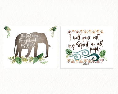 Elephant Nursery Print Set of Two
