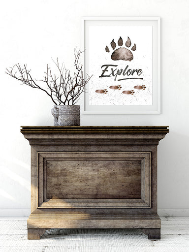 Explore - Rustic Woodland Print for Boys Bedroom