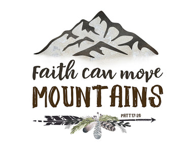 Faith Can Move Mountains - Boys Nursery Art