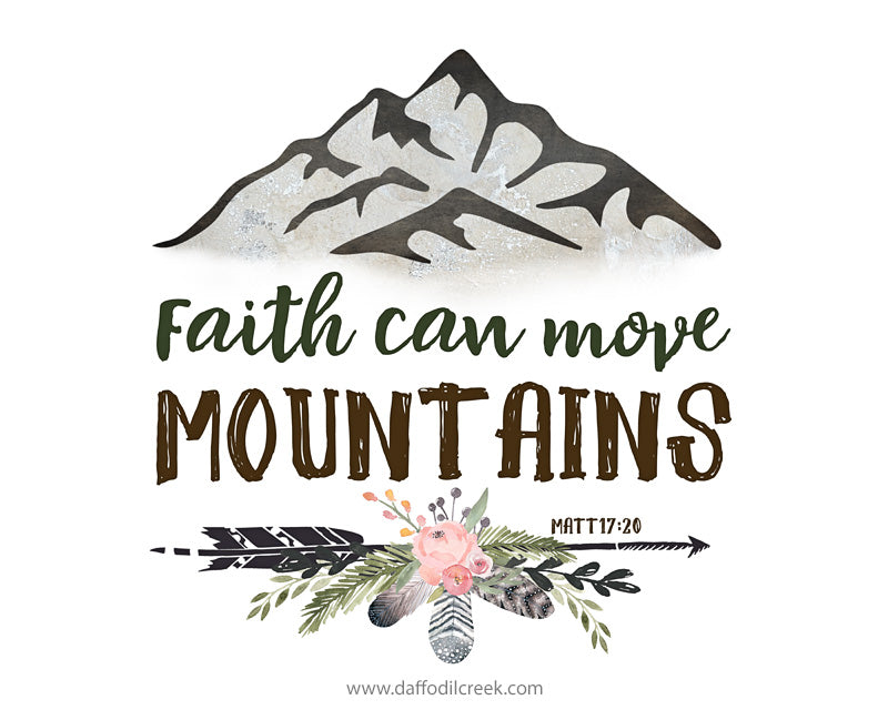 GIRLS Mountain Nursery Prints with Bible Verses