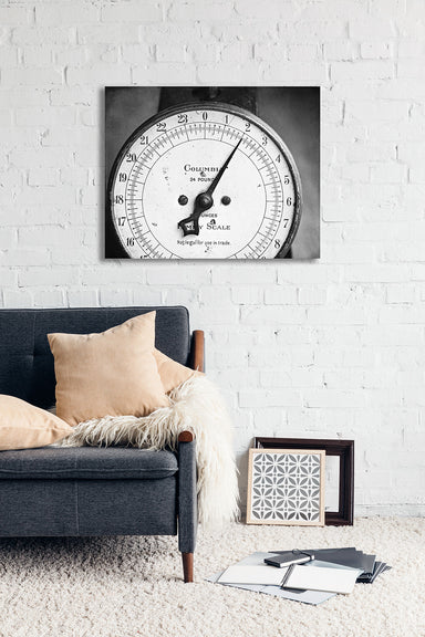 Family Scale in Black and White - Modern Farmhouse Wall Decor