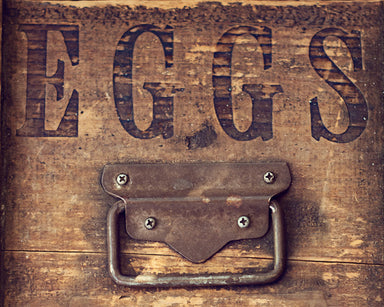 Farm Fresh - Rustic Eggs Print Horizontal Version