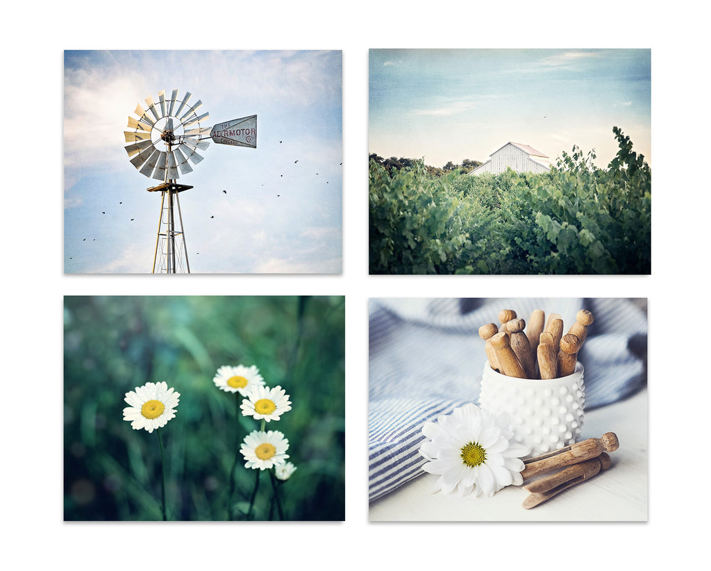 Farm Life Set of Four Prints