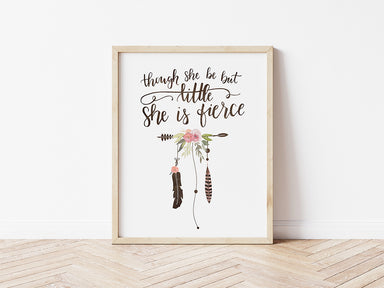 Fierce - Lettered Print