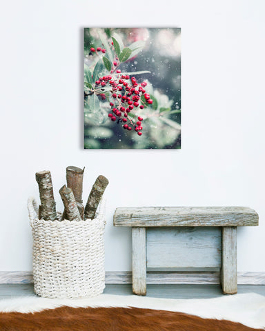 First Snow - Rustic Cabin Wall Decor