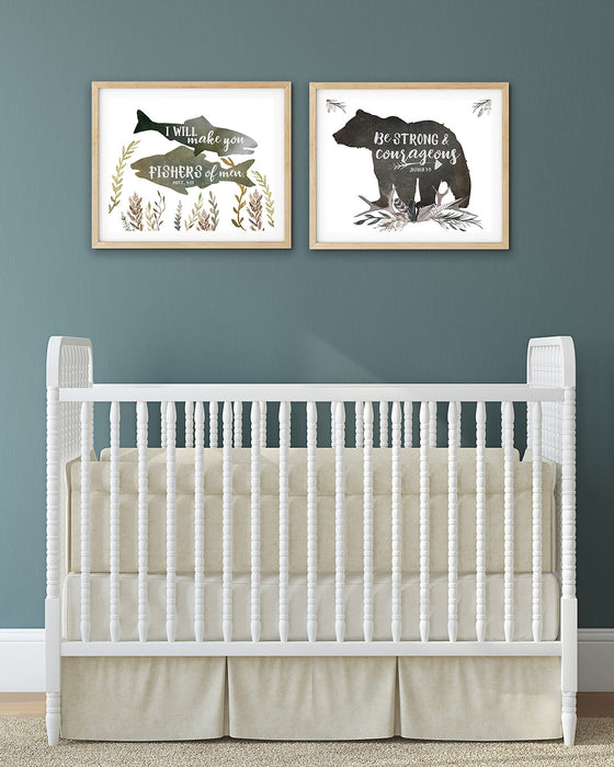 Woodland Animal Prints for Boys Nursery