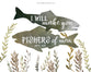 Outdoor Fishing Set of Four Nursery Prints