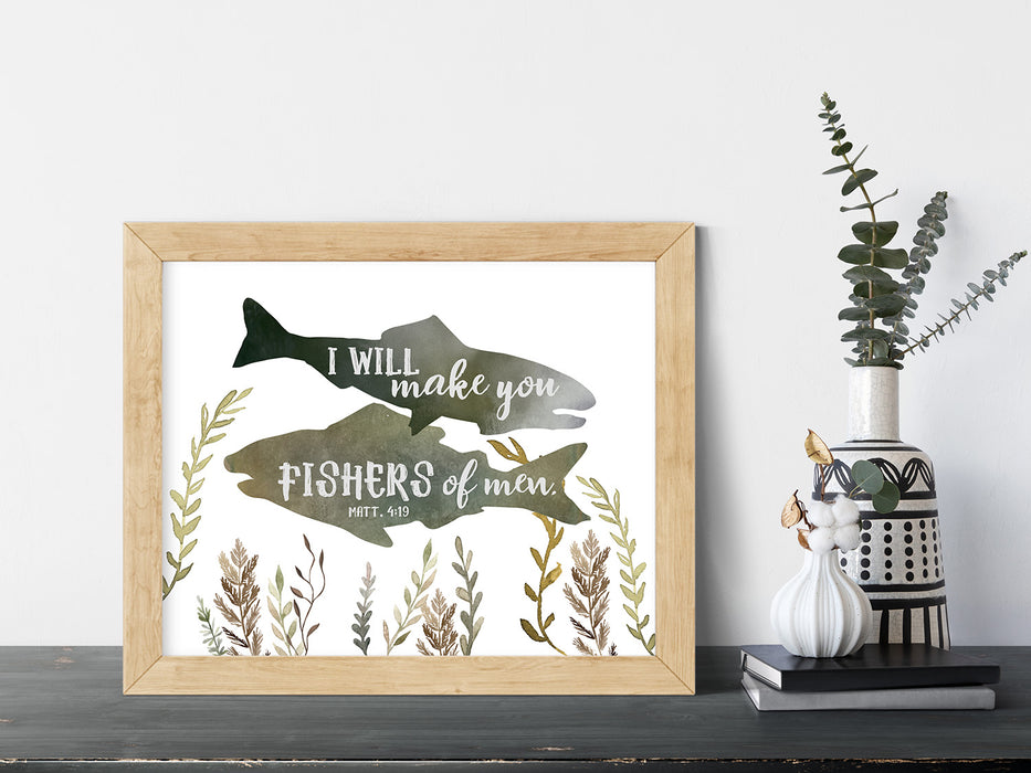 Fishers of Men - Fish Nursery Print
