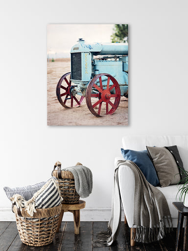 Fordson - Rustic Farmhouse Wall Art Decor with Antique Tractor
