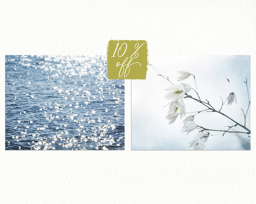 Fresh Linen Print Set of Two