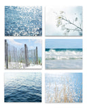 Fresh Blue Beach Set of Six