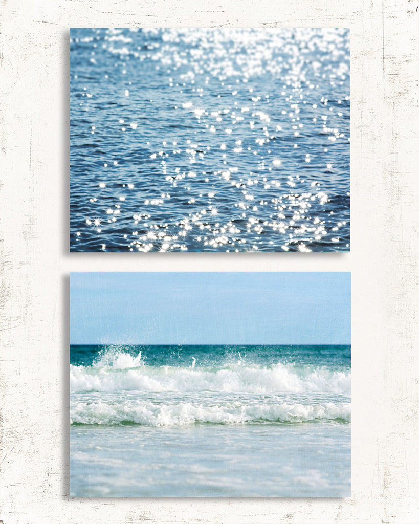 Fresh Blue Beach Set of Two