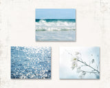 Fresh Blue Beach Set of Three