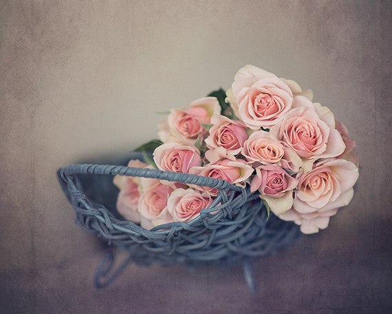 Fresh Cut Roses - Shabby Chic Wall Art for your French Decor