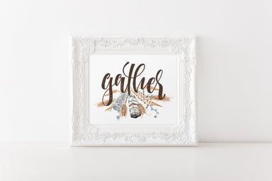 Gather - Lettered Print