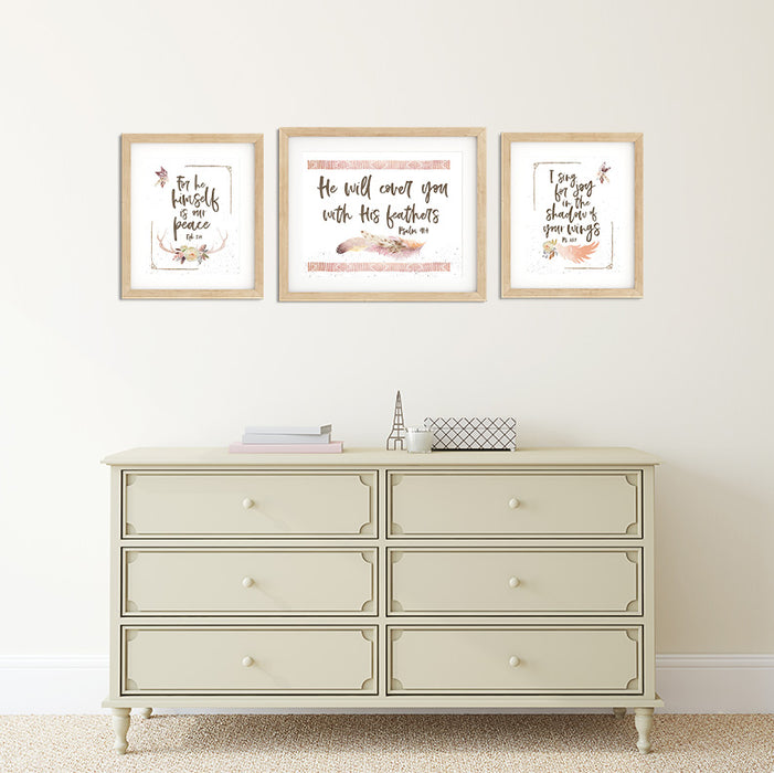 Girls Desert Nursery Gallery Wall with Bible Verses