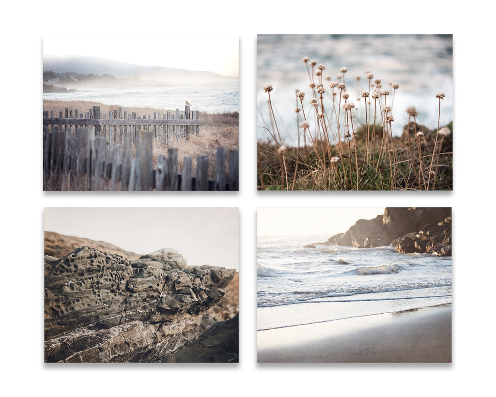Gray Beach Wall Art Set of Four
