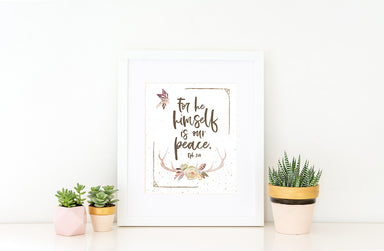 Girls Rustic Desert Nursery Print