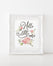 Hello Little One - Sweet Floral Watercolor Girls Nursery Print