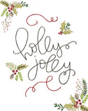 Holly Jolly - Lettered Print